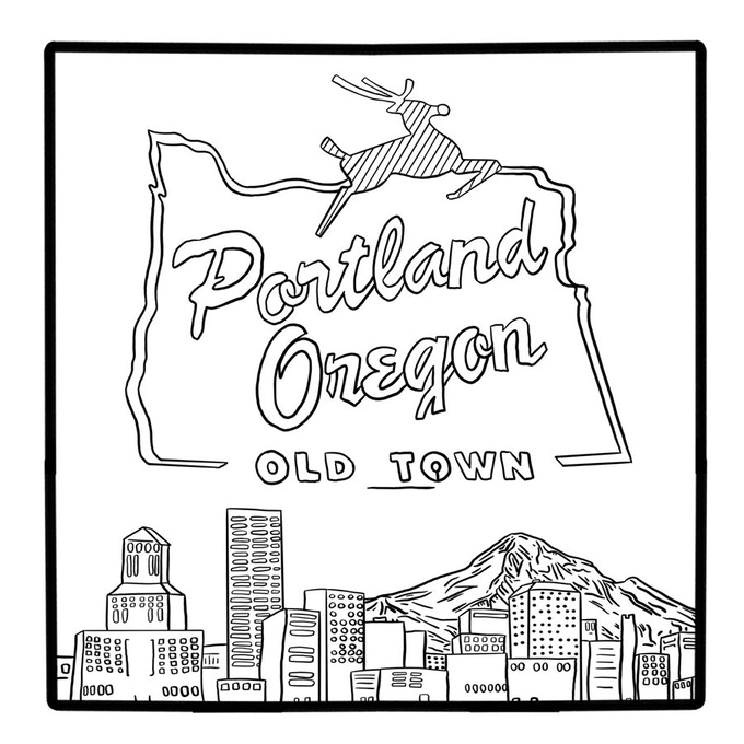 coloring pages of oregon trail - photo#26
