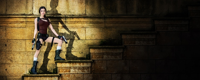 LeeAnna Vamp as Lara Croft at the Palace of Fine Arts