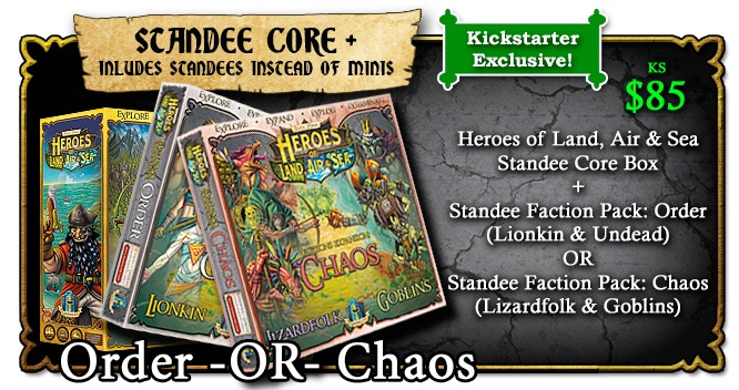 No miniatures are included in this reward tier. Instead the characters will be STANDEES.