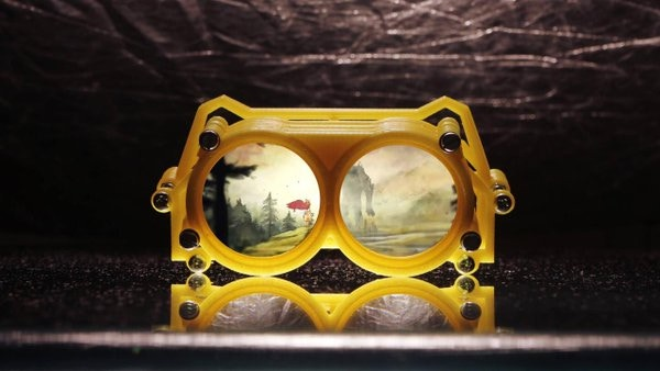 Customisable, 3D printed, smartphone based Virtual Reality Goggles distributed through crowd manufacturing.