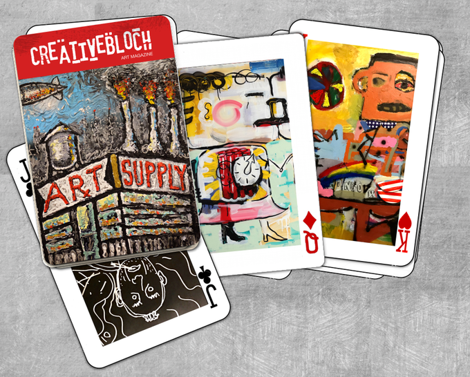 Deck of Art Playing Cards + signed print $35!