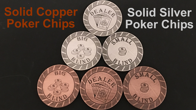 999 Copper & 999 Silver Poker Chips