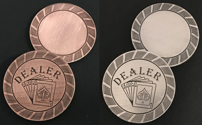 The Backs of the Chips Feature an Engravable area!