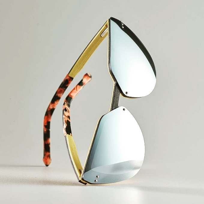 Mirror REVO on Maple with flowered acetate tips