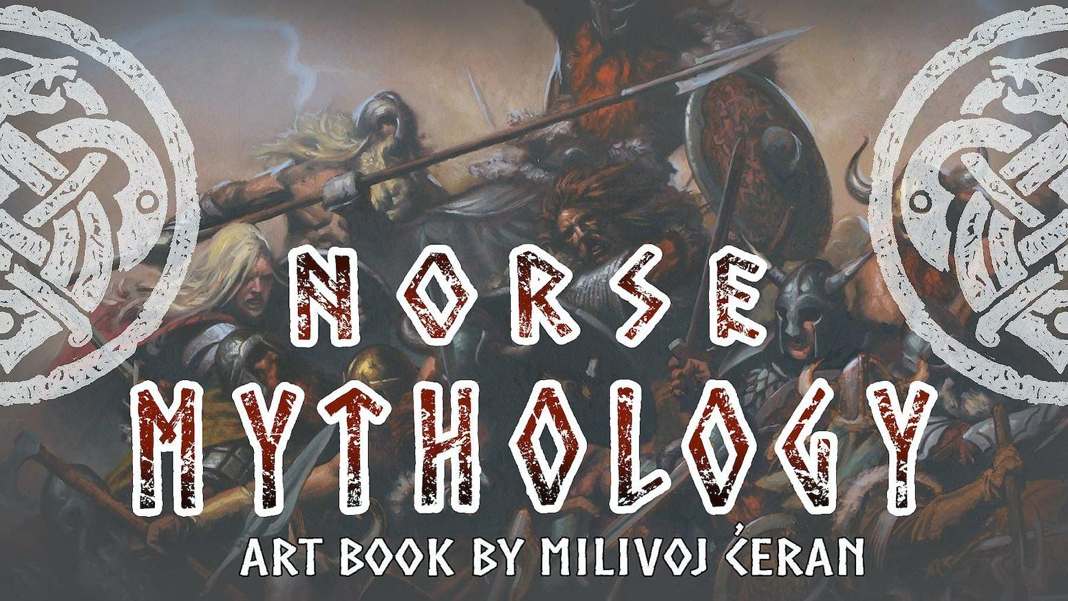 Breathtaking artbook based on Norse mythology, by award-winning illustrator, Milivoj Ćeran
