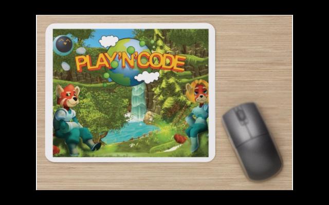 Tapis de souris personnalisé Play'n'Code (/!\ cette souris n'est pas en vente !)