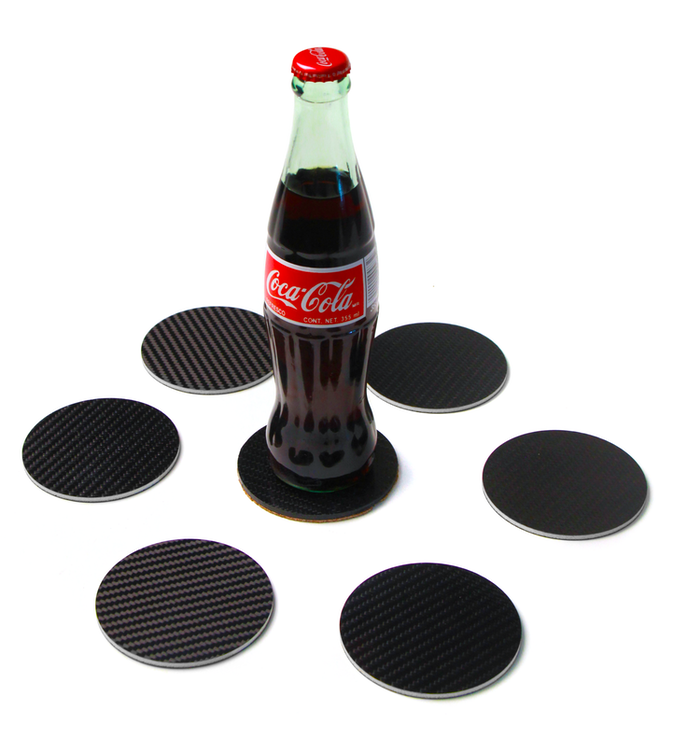 Carbon Fiber Sound Hole Coaster