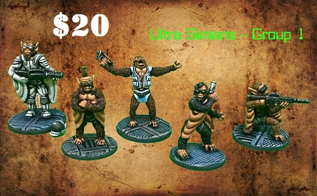 Add Set 1 of Simian X minis for $20