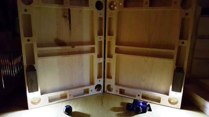 Lights off, LED's on bottom position (2x LED kits shown)
