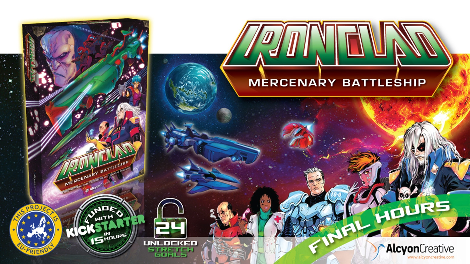 Space opera Co-op game for 1-3 players. Live the story of the battleship Ironclad and her crew of outlaw Heroes amidst a galactic war.