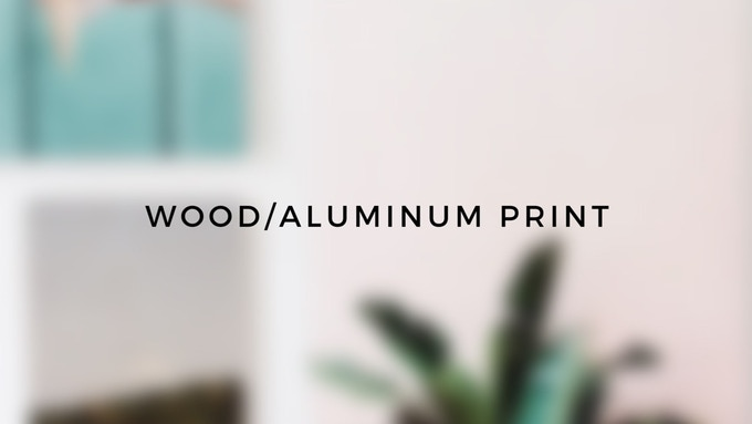 Wood or Aluminum Print by Inkdot