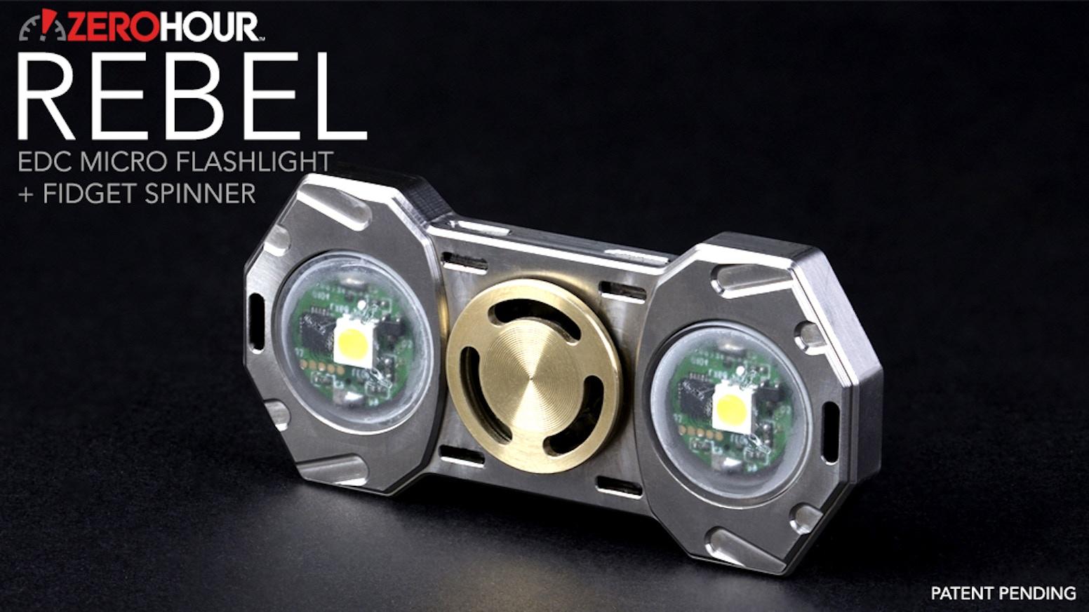 ZEROHOUR REBEL: EDC Microlight Flashlight Fidget Spinner by