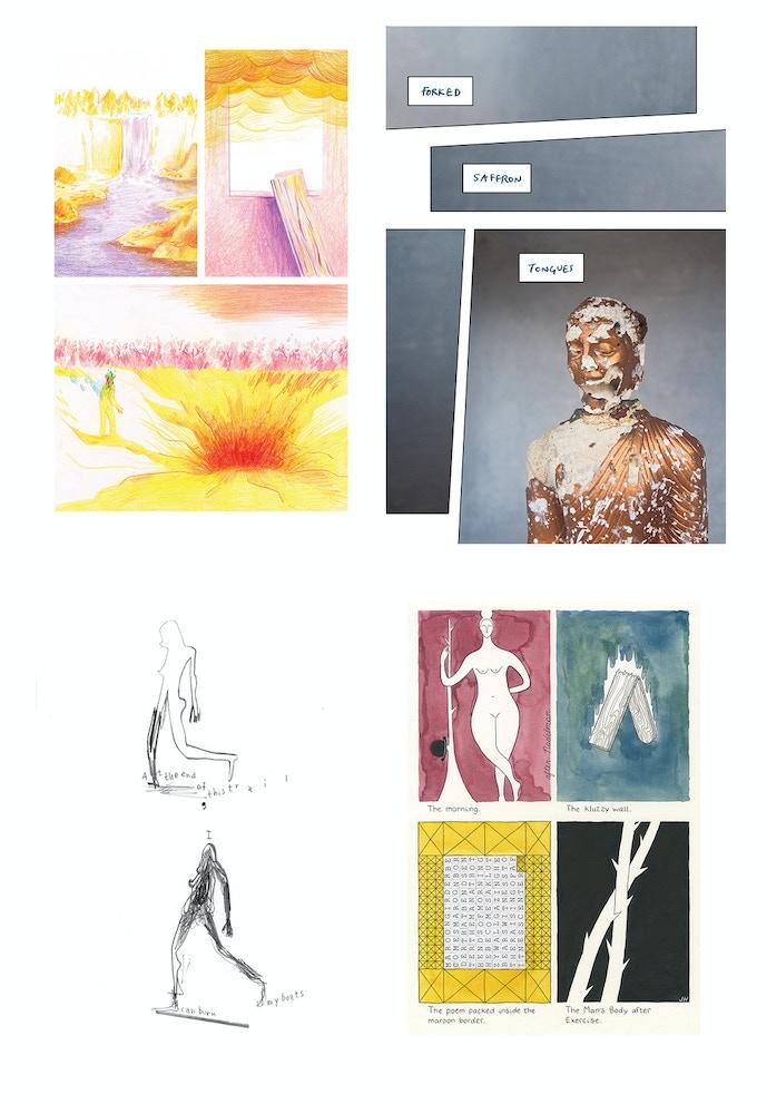 pages from INK BRICK no. 8   by Andrew White, Deshan Tennekoon, Warren Craghead, John Hankiewicz