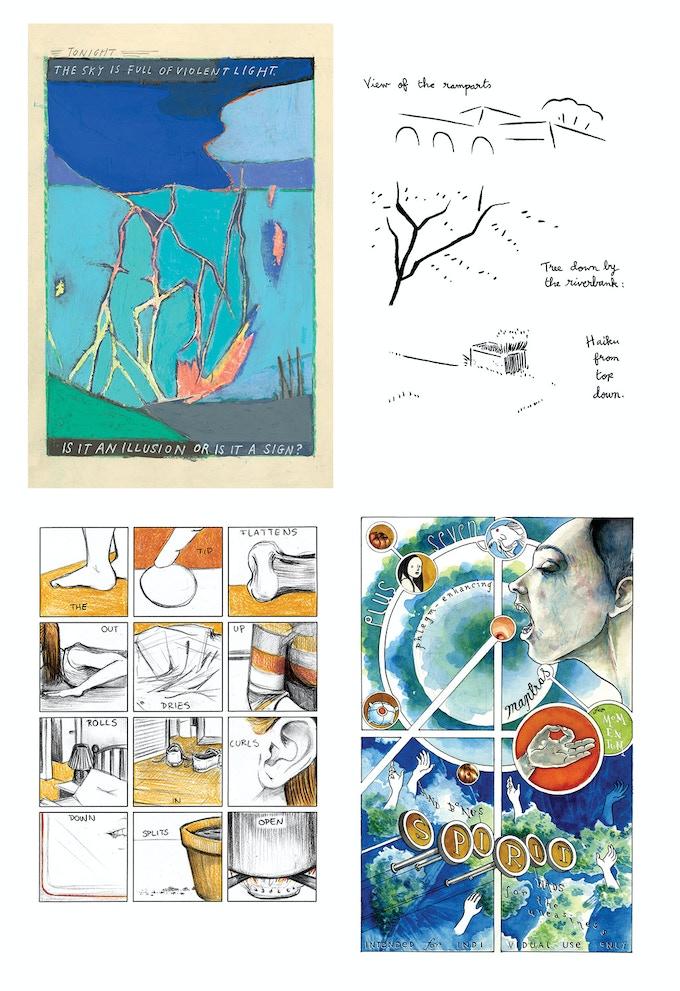 pages from INK BRICK no. 8   by Alyssa Berg, Matt Madden, Sophia Wiedeman, Bishakh Som, Vidhu Aggarwal