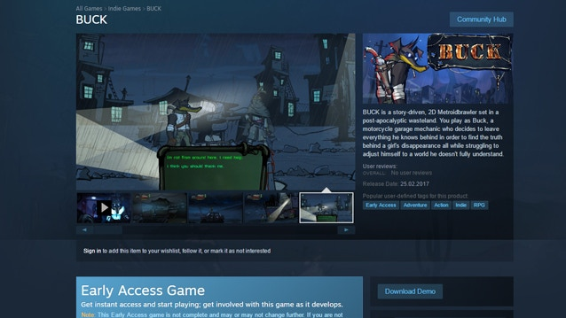 BUCK on Steam Early Access