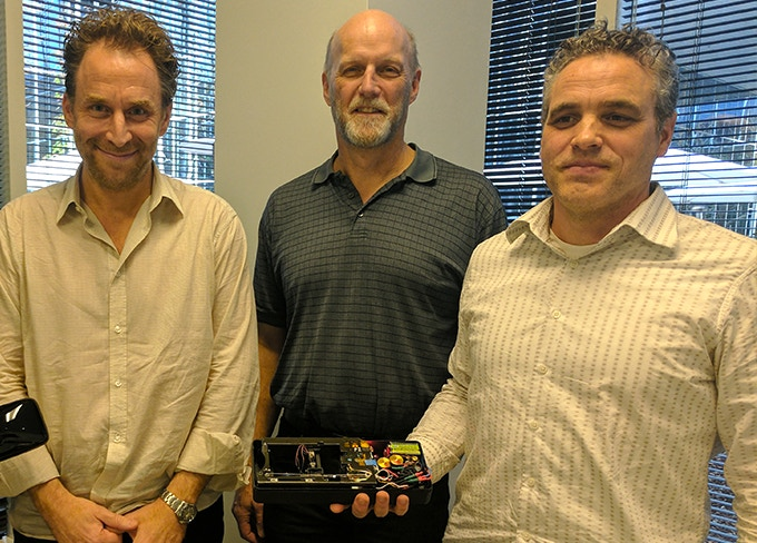 CH, Mark, & Tom showcase the initial prototype.