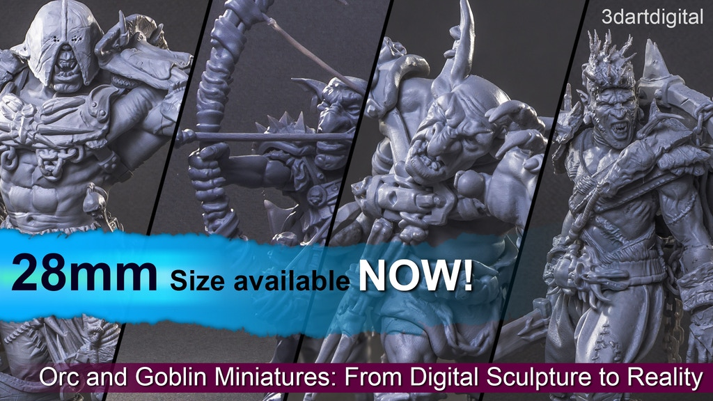 Project image for Orc and Goblin Miniatures: From Digital Sculpture to Reality (Canceled)