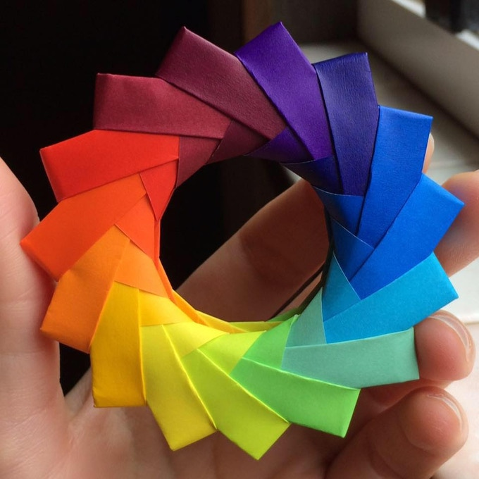 how to make an origami fibonacci spiral