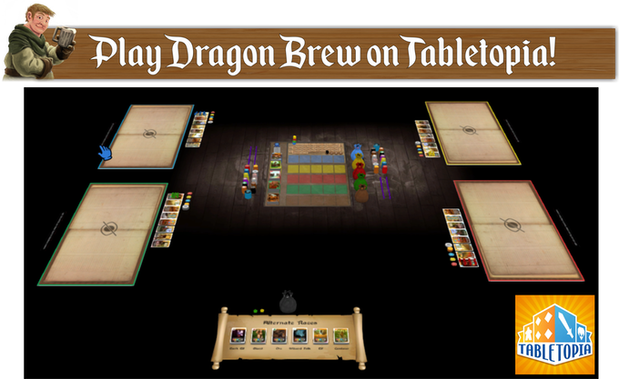 Dragon Brew is now up on Tabletopia for free of charge.  Click on the image above to check it out.