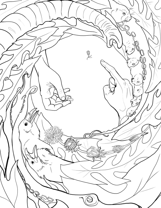 a sample coloring page