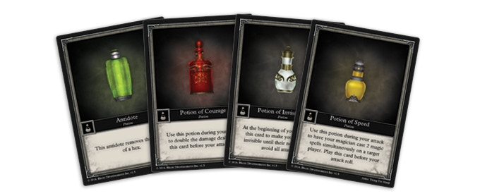 4 Potion Cards