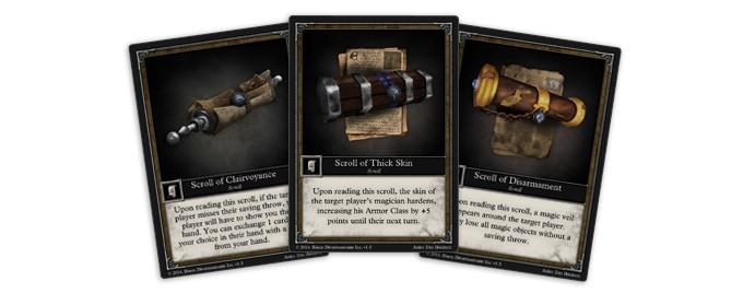 3 Scroll Cards