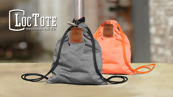 the theft proof drawstring backpack by loctote industrial bag co kickstarter. Black Bedroom Furniture Sets. Home Design Ideas