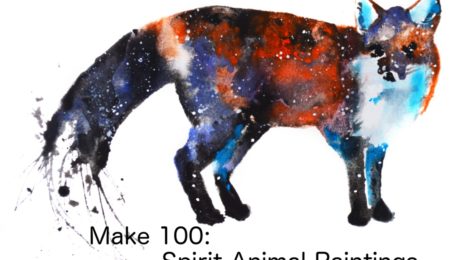 make 100 spirit animal paintings by tanya casteel kickstarter