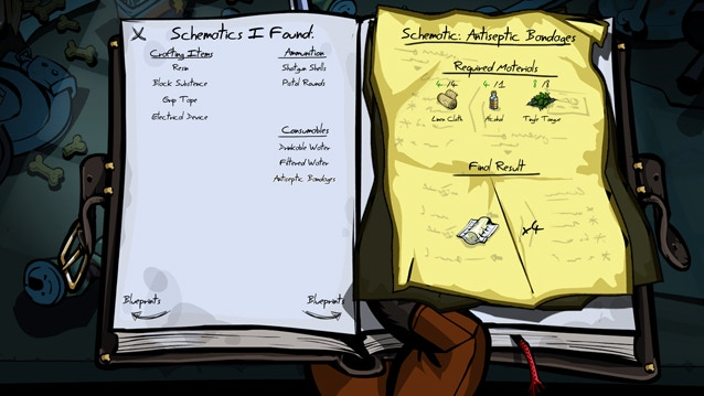 Schematics allow you to create 3 major item categories: Crafting Items, Ammunition and Consumables.