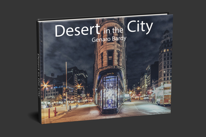 Desert in the City Hardcover Book with 120+ pictures from NYC, Paris, London & Rome - mockup