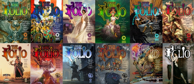 Here are 12 of the 15 Folios a backer can get with the Complete Folio Adventure Series Bundle!