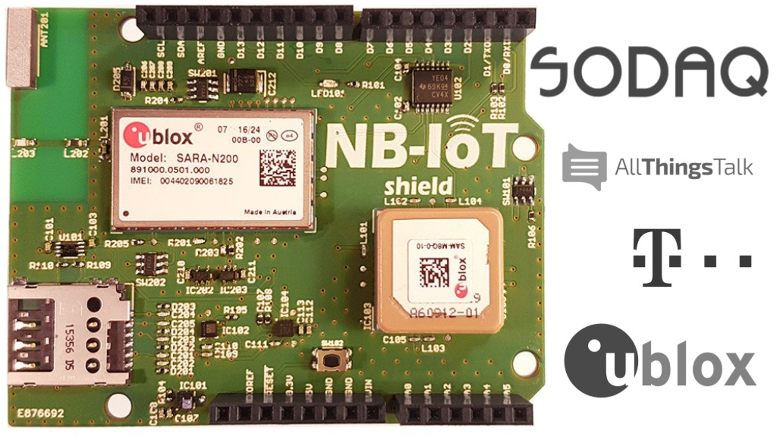 The First Nb Iot Shield For Arduino Supported By T Mobile Sodaq Make Your Own Temperature Controller With An Join Revolution This Get Connected And Start Using