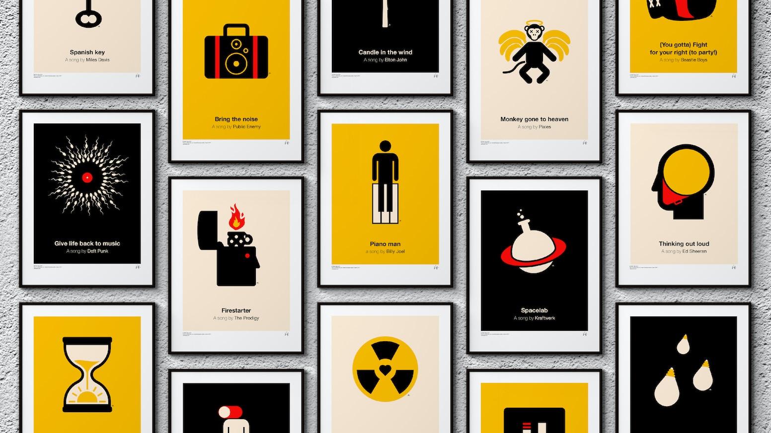 Pictogram music posters by Viktor Hertz — Kickstarter