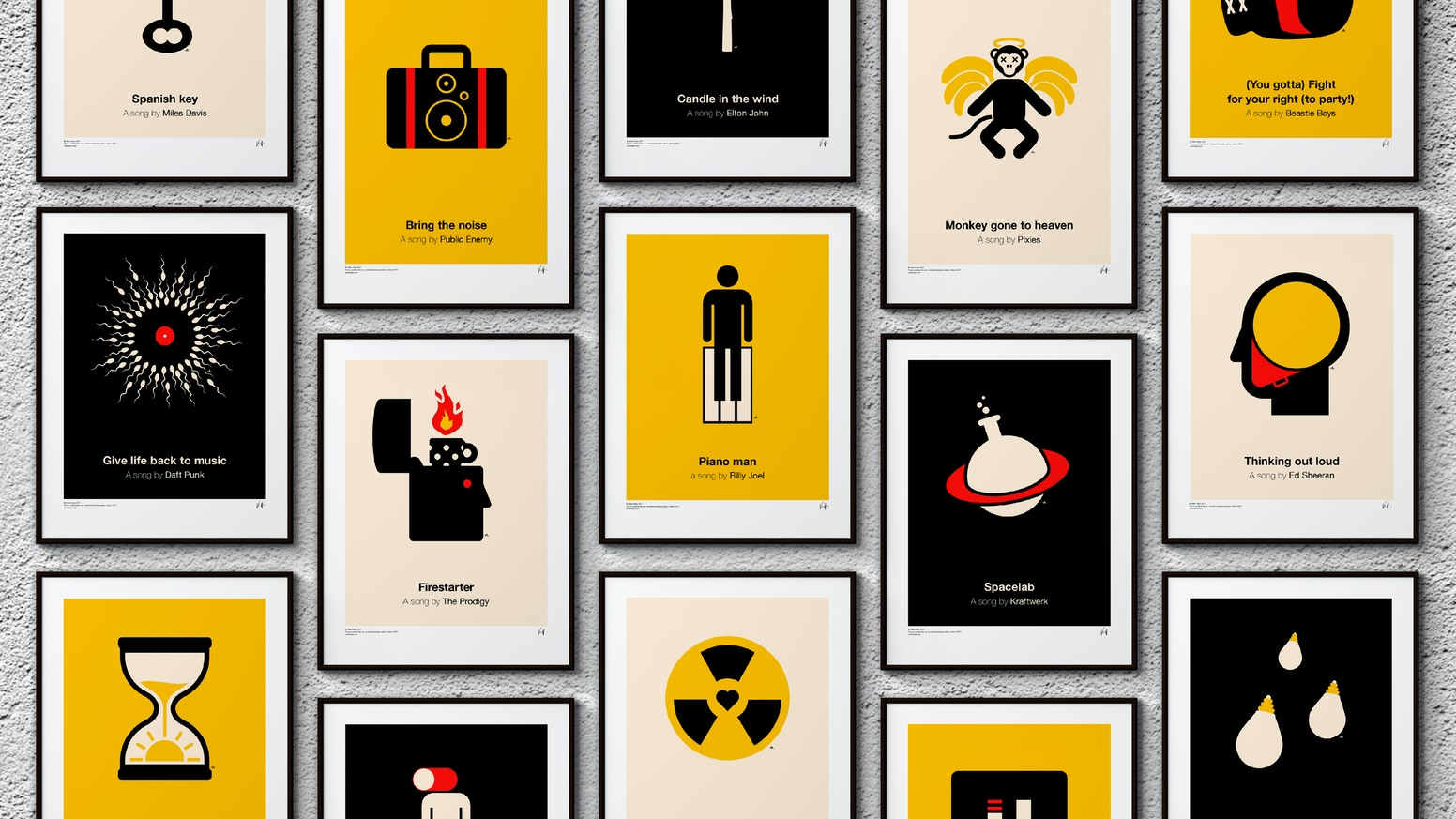 Pictogram music posters by Viktor Hertz — Kickstarter