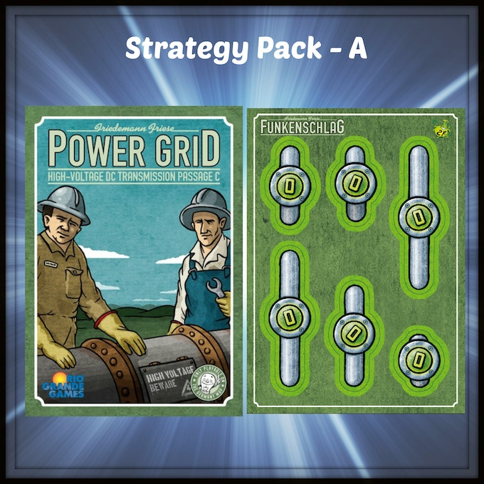 A mini expansion for Power Grid from Rio Grande Games. This uses the Germany side of the board from the base game. So no other expansion is needed to play.