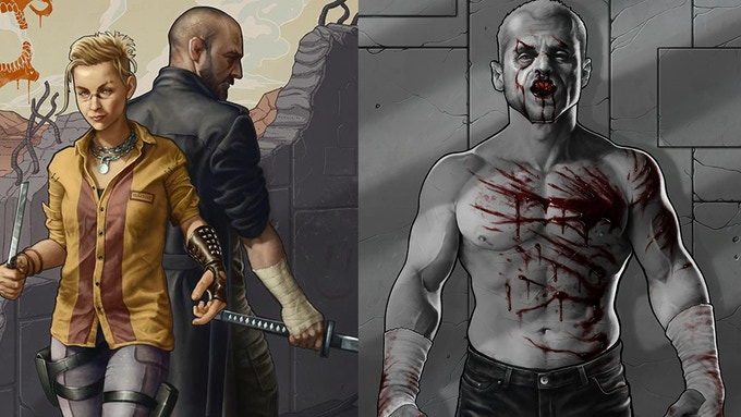 (Left to right) Covers for Bust #2 and #1