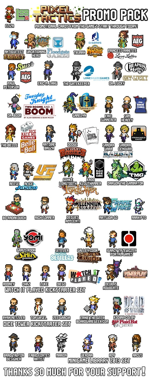 48 new cards for Pixel Tactics from Level 99 Games. (This is part of Strategy Pack A)