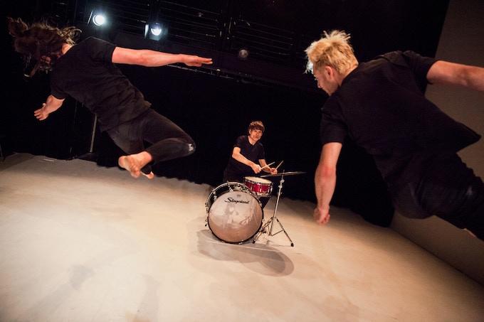 BOOMERANG performing Repercussion. Photograph by Mark Davis