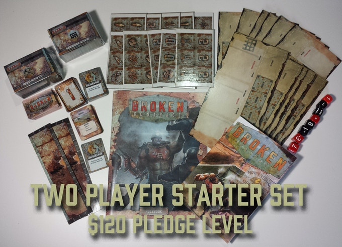 $120 Pledge Level includes two Faction Sets. Each Faction Set contains 5-6 models and 32 cards.