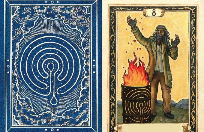 """An example Rún card - """"The Storyteller"""""""
