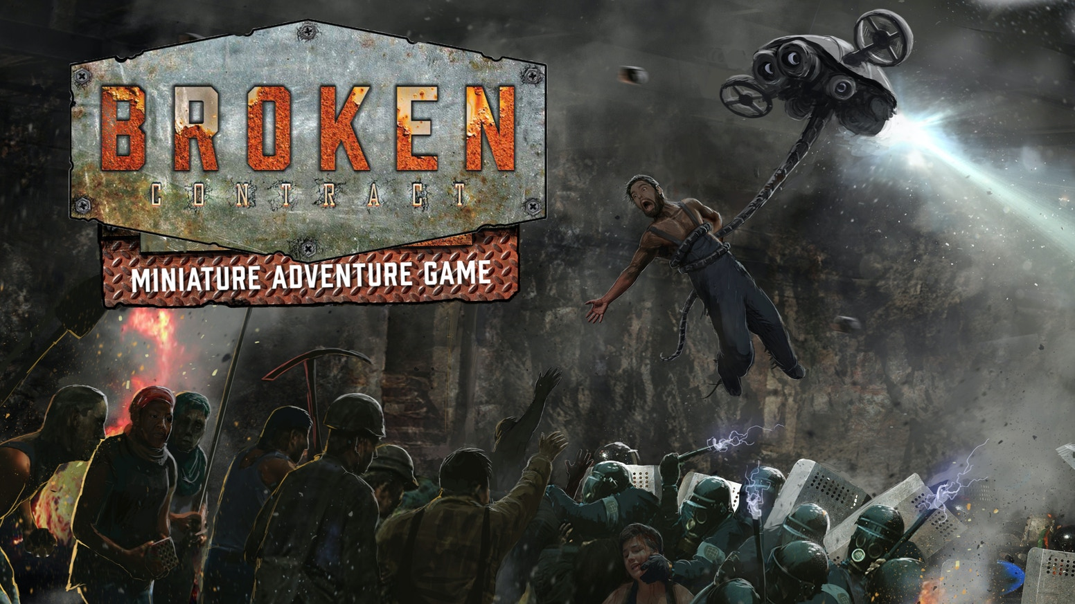 Broken Contract is a sci-fi, action/adventure, miniature game of worker insurrection in a dystopian future for 2+ players.