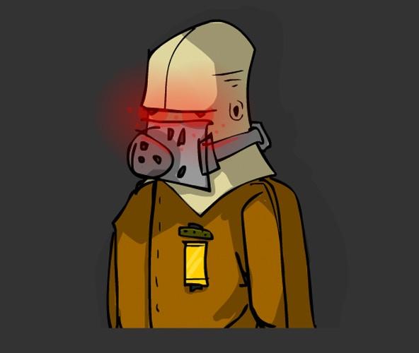 Sketch of a robot worker