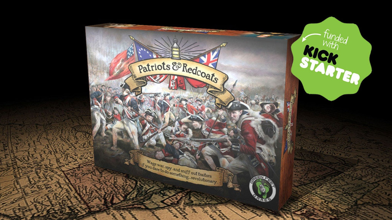 A hidden-identity card game of spies, sabotage, & skirmishes during America's War for Independence. 20-min tabletop fun for 4-10 peeps.