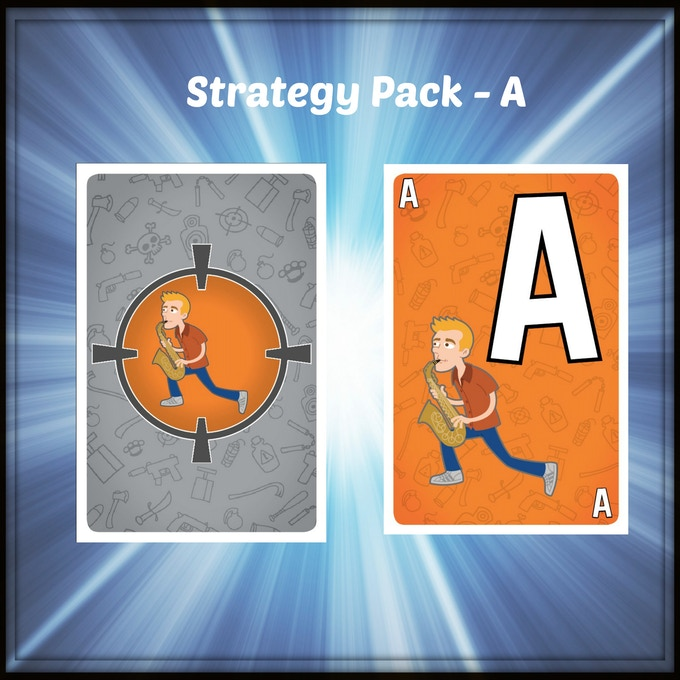 A new customized promo pack for AssassinCon by Mayday Games. It replaces all 12 cards from the orange color in the game and has Dan playing his Sax!