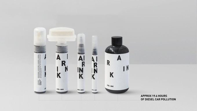 We are offering AIR-INK for the first time through this Kickstarter.  AIR-INK is currently available as 2mm, 15mm, 30mm and 50mm markers, and as 150ml of screen printing ink.