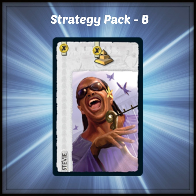 A Stevie Wonder Leaders card for 7 Wonders by Repos Production.The Leaders Expansion is needed to use this card. Click the image for more info.