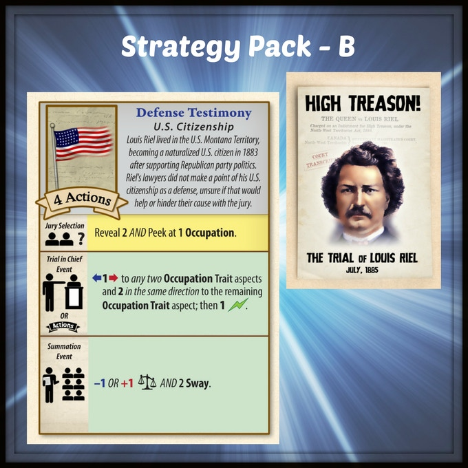 A new card for High Treason: The Trial of Louis Riel by Victory Point Games