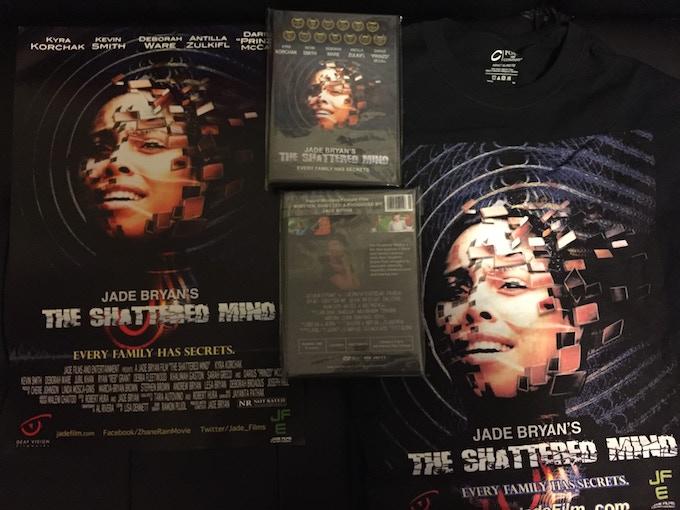 The Shattered Mind t-shirt, poster & DVD ($55 Pledge)