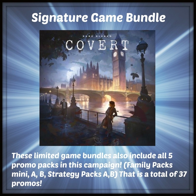One signed copy of Covert from Renegade Game Studios by designer Kane Klenko!