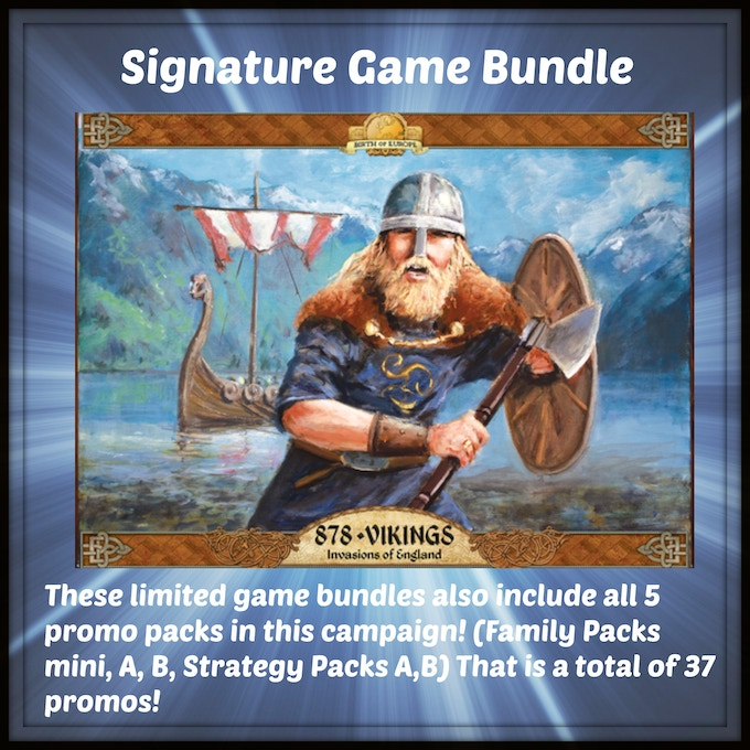 One signed copy of the upcoming release 878 Vikings: Invasions of England from Academy Games